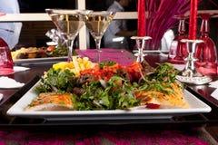 Romantisch Diner met kaars Royalty-vrije Stock Foto