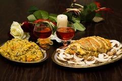 Romantisch diner voor gehouden van degenen Stock Fotografie