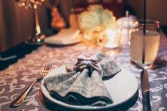 Romantisch Diner voor Twee stock fotografie