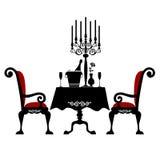 Romantisch diner voor twee Royalty-vrije Stock Afbeeldingen