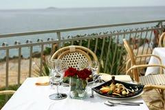 Romantisch diner voor twee Stock Afbeeldingen