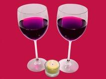 Romantisch diner voor twee Stock Afbeelding