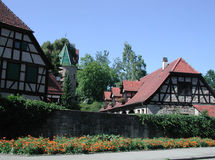 Romantisch dorp Stock Afbeelding