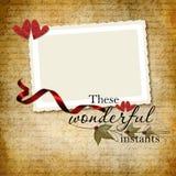 Romantisch frame royalty-vrije stock afbeeldingen