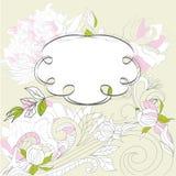 Romantisch frame met bloemen