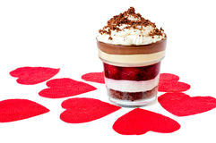 Romantisch Gelaagd Dessert stock foto's
