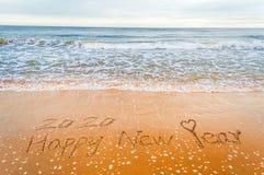 Romantisch Gelukkig nieuw jaar 2020 Stock Foto