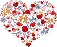 Romantisch hart Stock Foto