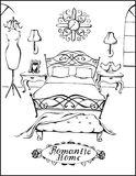 Romantisch huis royalty-vrije illustratie