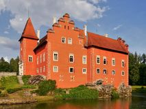 Romantisch kasteel Cervena Lhota royalty-vrije stock foto's