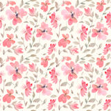 Romantisch lichtrood Bloemen naadloos Patroon stock illustratie