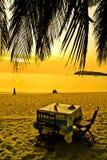 Romantisch na zonsondergangdiner stock foto's