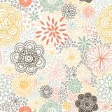 Romantisch naadloos bloemenpatroon. stock illustratie