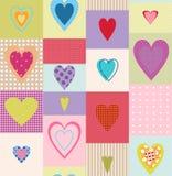 Romantisch naadloos patroon Royalty-vrije Stock Afbeeldingen
