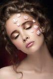 Romantisch naakt jong mooi meisje Royalty-vrije Stock Fotografie