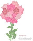 Romantisch nam bloemblaadjesachtergrond toe vector illustratie