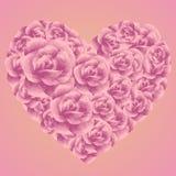 Romantisch nam hart voor de lage polystijl van de valentijnskaartdag toe Stock Afbeelding