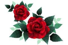 Romantisch nam hart voor de lage polystijl van de valentijnskaartdag toe Stock Foto