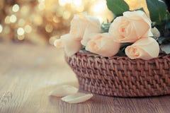 Romantisch nam uitstekende stijl toe Stock Foto