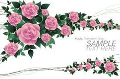 Romantisch nam voor de lage polystijl van de valentijnskaartdag toe Royalty-vrije Stock Foto