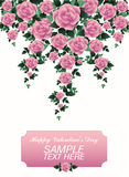 Romantisch nam voor de lage polystijl van de valentijnskaartdag toe Stock Foto