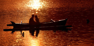 Romantisch ogenblik Royalty-vrije Stock Foto's