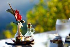 Romantisch ontbijt Stock Afbeelding