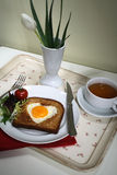 Romantisch ontbijt Stock Foto's