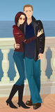 Romantisch Paar Royalty-vrije Stock Afbeeldingen