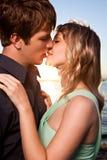 Romantisch paar in liefde royalty-vrije stock foto's