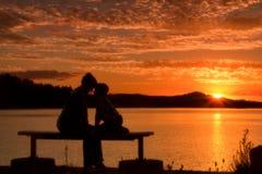 Romantisch paar samen Stock Foto's