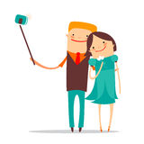 Romantisch paar selfie Stock Fotografie