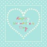 Romantisch pastelkleurhart met kleurrijk tekstpatroon stock illustratie