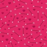 Romantisch patroon met pijlen royalty-vrije illustratie