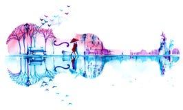 Romantisch perceel Stock Afbeeldingen