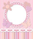Romantisch roze kader Stock Afbeelding
