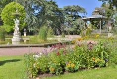 Romantisch stadspark Stock Afbeelding