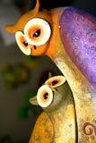 Romantisch uilenpaar Royalty-vrije Stock Foto's