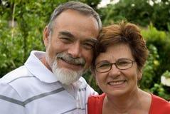 Romantische ältere Paare Stockbilder