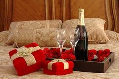 Romantische Überraschung Stockfoto