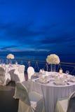 Romantische Abendesseneinrichtung Lizenzfreies Stockbild
