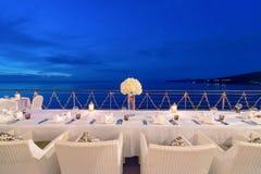 Romantische Abendesseneinrichtung stockbilder