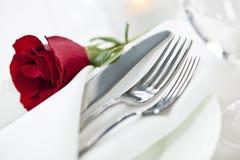 Romantische Abendesseneinstellung Stockfoto
