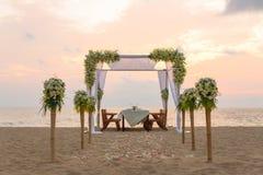 Romantische Abendesseneinstellung Lizenzfreies Stockfoto