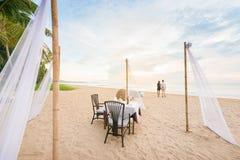 Romantische Abendesseneinstellung Stockbilder