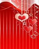Romantische achtergrond stock illustratie