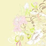 Romantische achtergrond met bloemen Stock Foto's