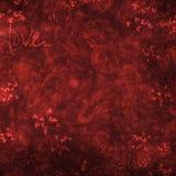 Romantische achtergrond met harten Stock Foto