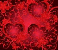 Romantische achtergrond voor valentijnskaartdag Stock Foto's