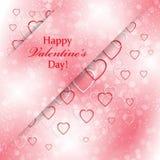Romantische achtergrond voor Valentijnskaartendag met harten Stock Foto's
